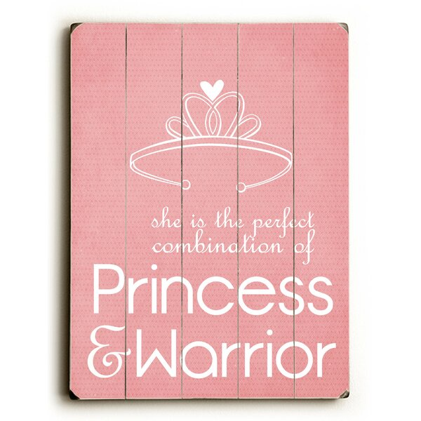 Princess and Warrior Wall Plaque by Viv + Rae