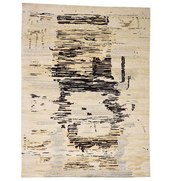 One-of-a-Kind Bagwell Hand-Knotted Ivory Area Rug by Isabelline