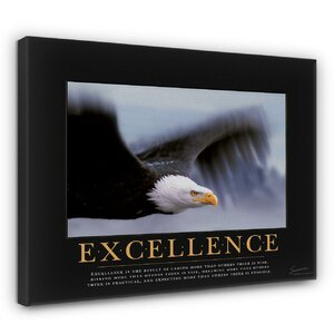 Excellence Eagle Motivational Photographic Print by Andover Mills