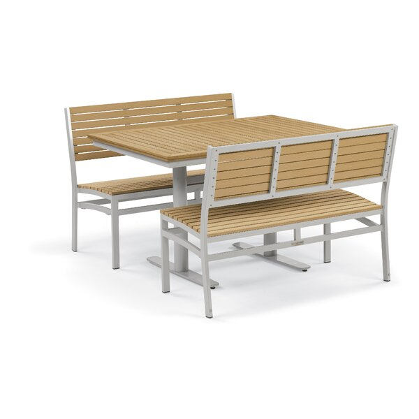 Farmington 3 Piece Teak Dining Set by Latitude Run