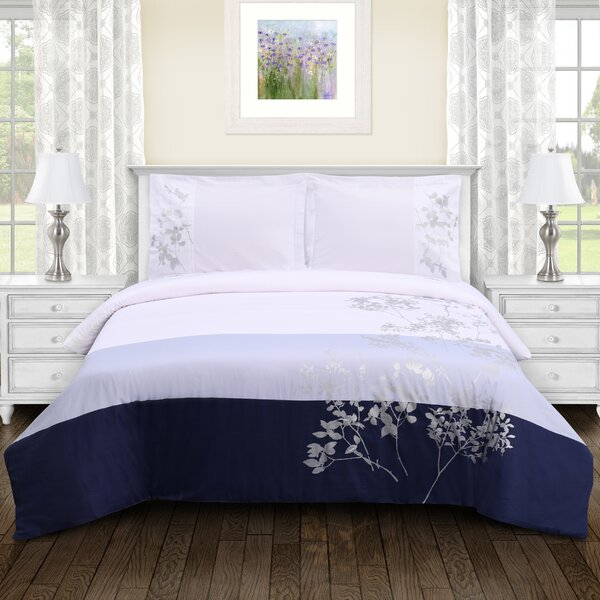 Sheila Embroidered Duvet Cover Set by Winston Porter