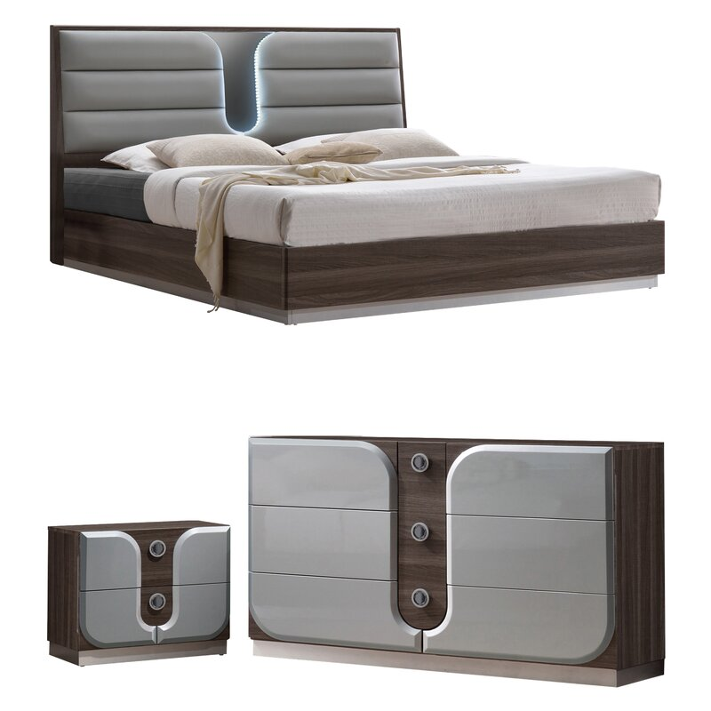 bedroom bed. Anshul Modern Wood Platform Configurable Bedroom Set Orren Ellis