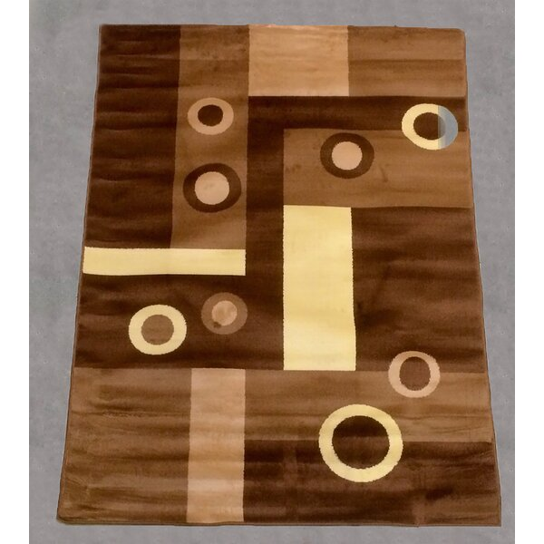 Geometric Brown Area Rug by LYKE Home