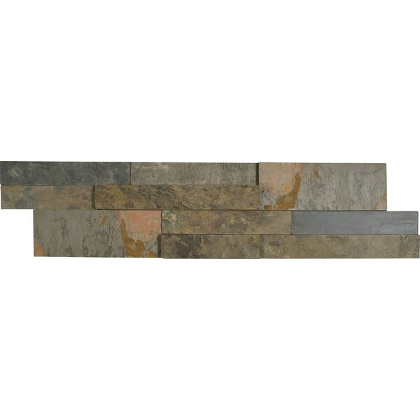 Rustic 6 x 24 Panel Random Sized Natural Stone Splitfaced Tile in Brown/Rust by MSI
