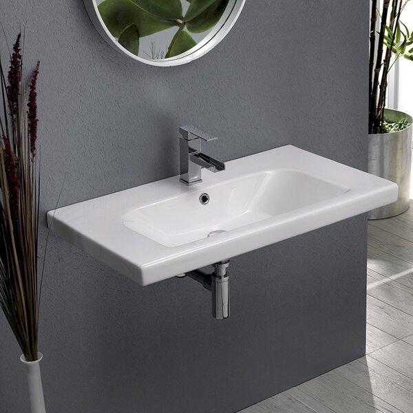 Ceramic Rectangular Drop-In Bathroom Sink with Overflow by CeraStyle by Nameeks