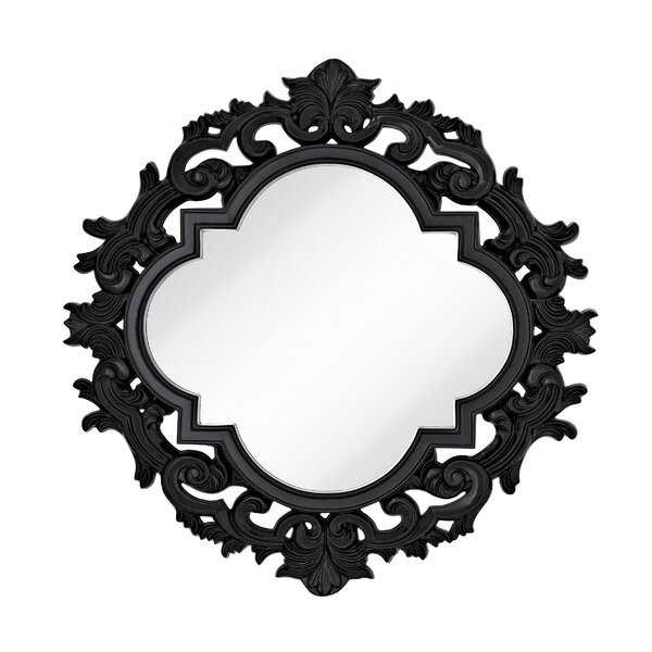 Large Wall Mirror with Modern Glam Black Lacquer Frame by Majestic Mirror