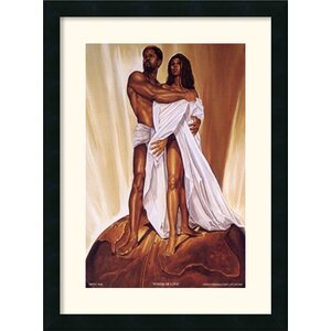 'Power of Love' by Wak - Kevin A. Williams Framed Painting Print by Amanti Art