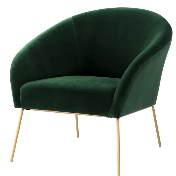 Achilles Velvet Barrel Chair By Nicole Miller Bargain