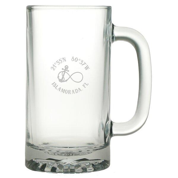 Galvez Infinity Anchor 16 oz. Glass Beer Mug (Set of 4) by Longshore Tides