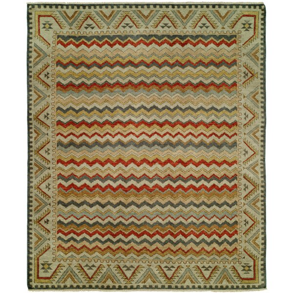 Dona Hand-Knotted Wool Ivory Area Rug by Loon Peak
