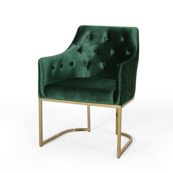 Poynor Modern Tufted Glam Accent Armchair by Everly Quinn