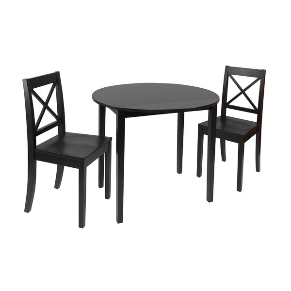 Tiago 3 Piece Drop Leaf Dining Set by Laurel Foundry Modern Farmhouse
