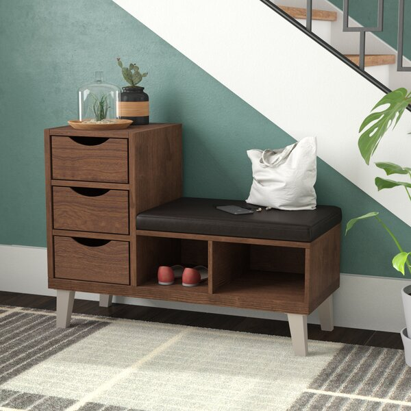 Sperling Faux Leather Storage Bench by Mercury Row