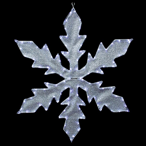Lighted Indoor/Outdoor Tube Light Snowflake Commercial Christmas Decoration by Northlight Seasonal