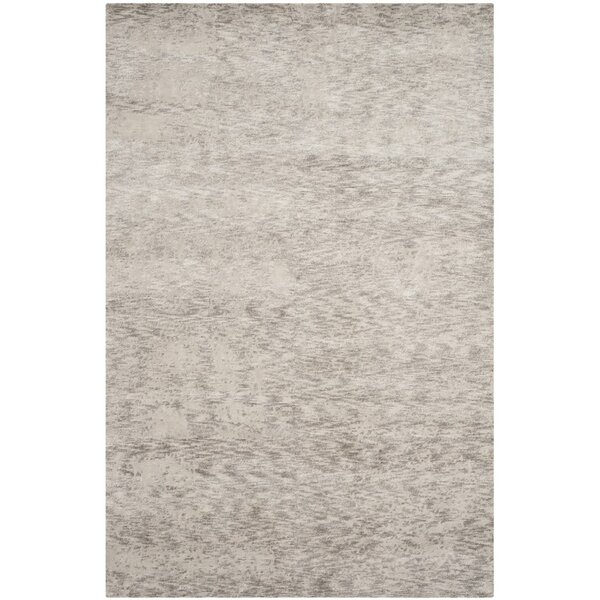 Armstrong Abstract Hand-Knotted Gray Area Rug By Orren Ellis.