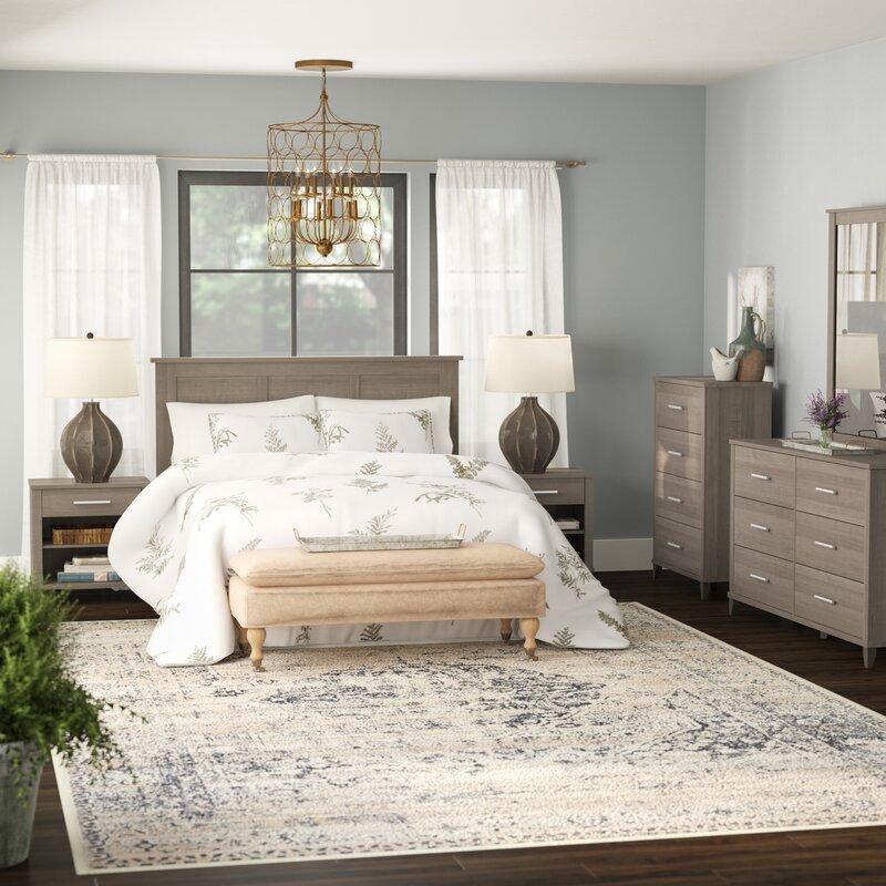 Laurel Foundry Modern Farmhouse Valencia Queen 6 Piece Bedroom Set ...