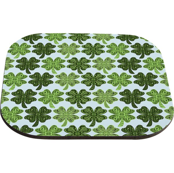 Lucky You Shamrock Coaster (Set of 4) by East Urban Home