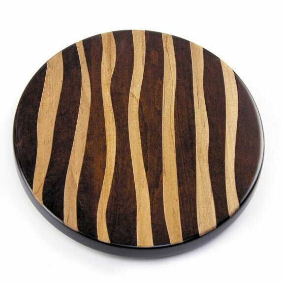 Artisan Woods Wavy Stripe Lazy Susan by Martins Homewares