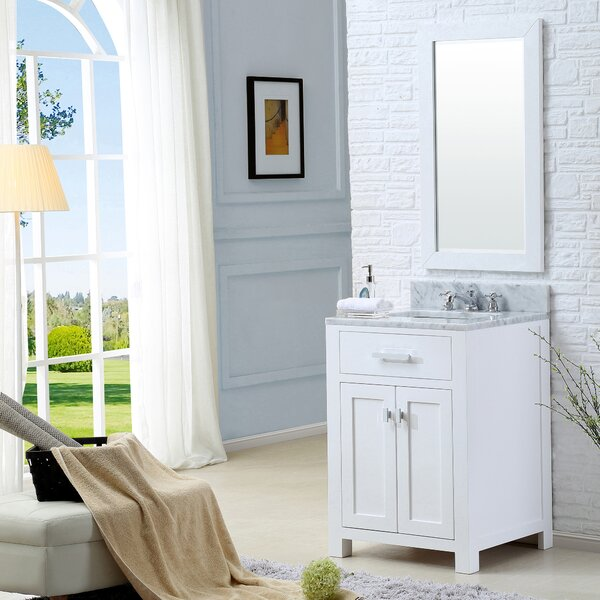 Raven 25 Single Bathroom Vanity Set with Mirror by Andover Mills