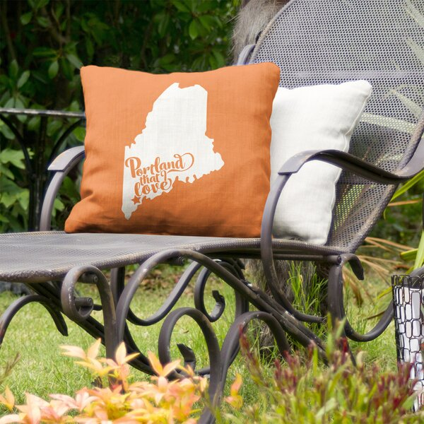 Portland Maine Indoor/Outdoor Throw Pillow By East Urban Home