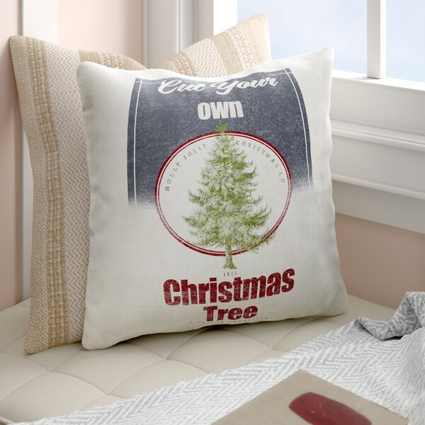 Harpreet Cut Your Own Tree Outdoor Throw Pillow by Gracie Oaks
