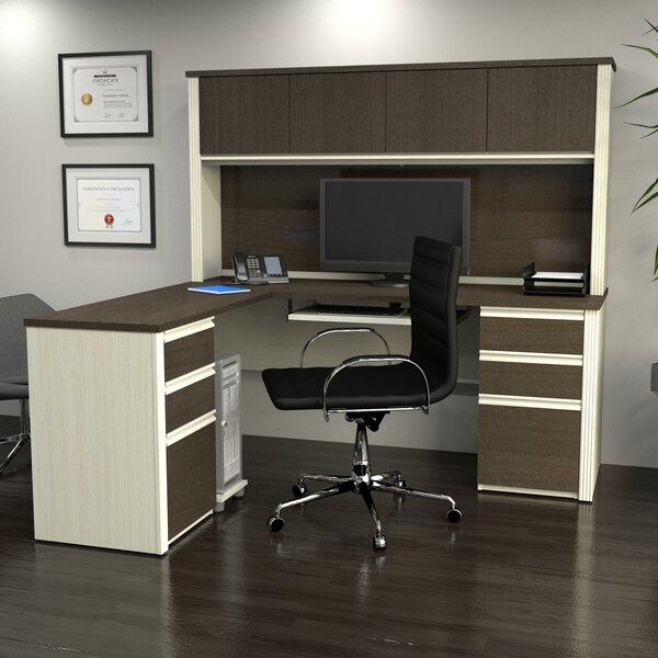Bormann Workstation Executive Desk with Hutch by Red Barrel Studio