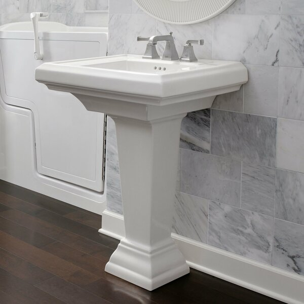 Town Square Ceramic 27 Pedestal Bathroom Sink with