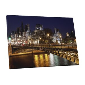 City Skylines Paris Photographic Print on Wrapped Canvas by Pingo World