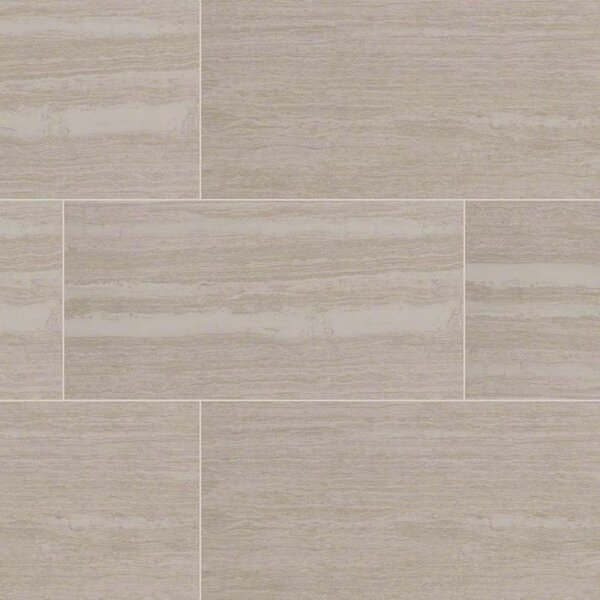 Orion Blanco 12 x 24 Porcelain Wood Look/Field Tile in White by MSI