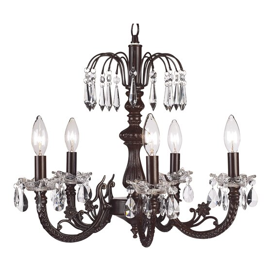 5-Light Candle Style Chandelier by Jubilee Collection