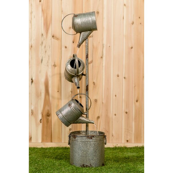 Metal 3 Watering Cans Fountain by Hi-Line Gift Ltd.