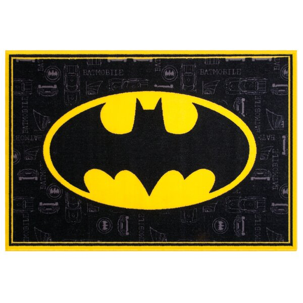Batman Black Area Rug by Wildkin