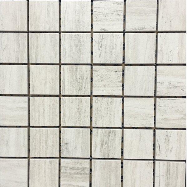 Silverwood Porcelain Mosaic Tile in White by Kellani