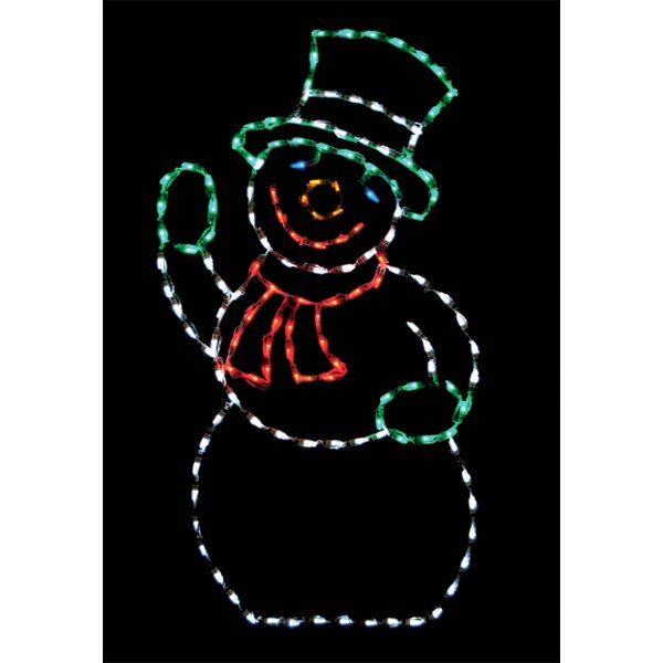 Snowman LED Lighted Display by Brite Ideas