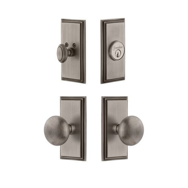 Carre Single Cylinder Knob Combo Pack with Avenue Knob by Grandeur