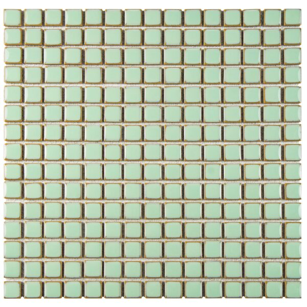 Morgan 0.72 x 0.72 Porcelain Mosaic Tile in Light Green by EliteTile