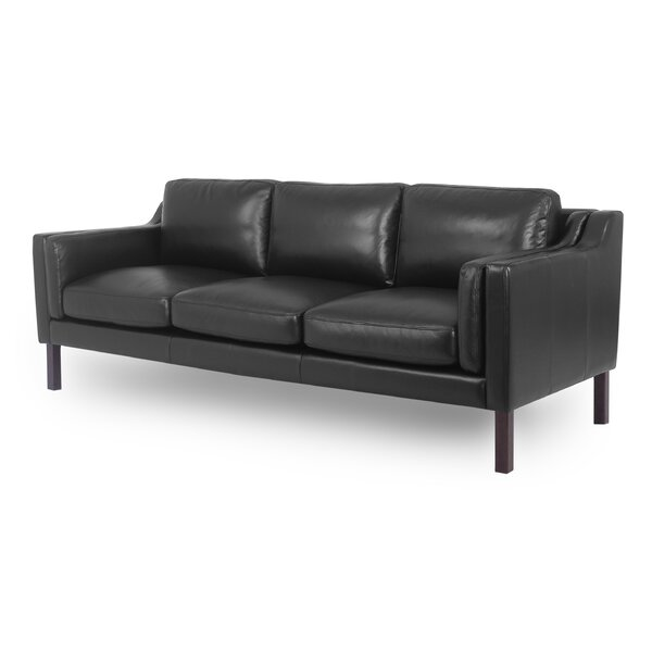 Priced Reduce Rolando Mid-Century Leather Sofa by Corrigan Studio by Corrigan Studio