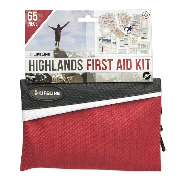 65 Piece Adventure Pack First Aid Kit by Lifeline