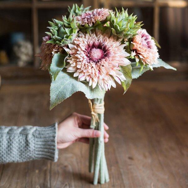 Toddington Rustic Sunflower Floral Arrangement by Gracie Oaks