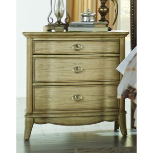 Pogson 3 Drawer Nightstand by One Allium Way