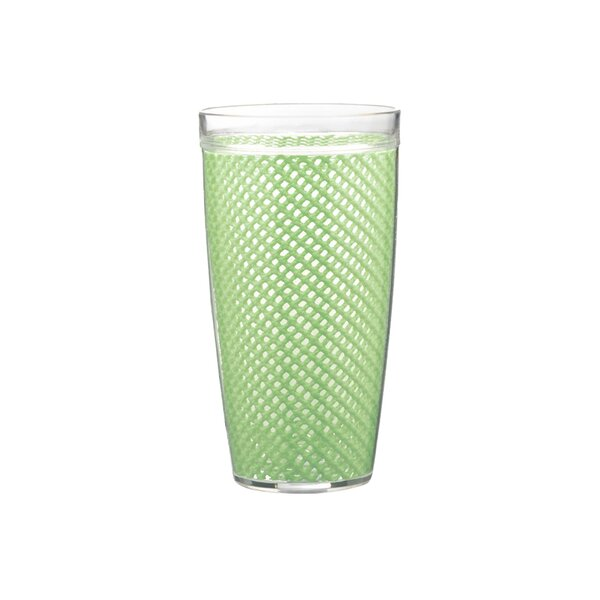 Fishnet Double Wall 22 oz. Plastic Every Day Glass (Set of 4) by Highland Dunes