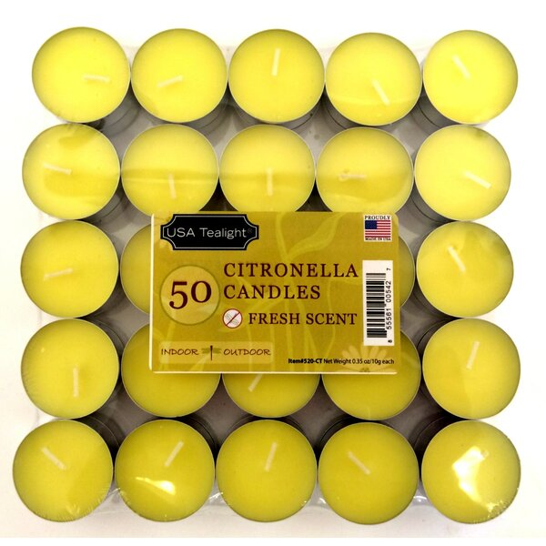 Citronella Tea Light Candle (Set of 50) by American Direct