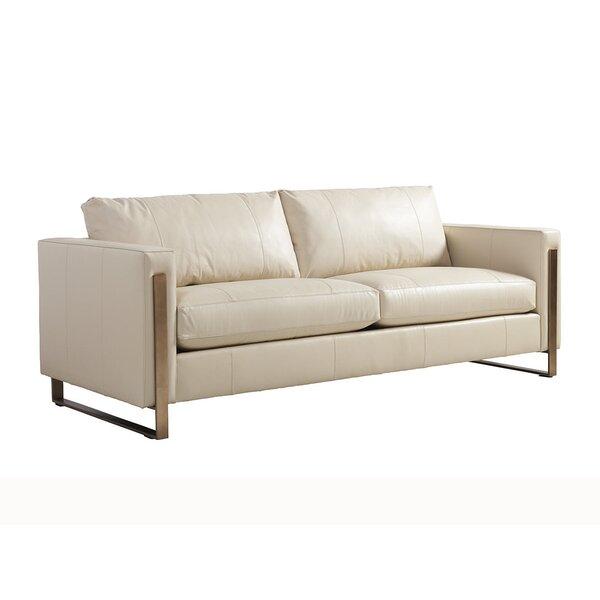 Shadow Play Leather Sofa by Lexington
