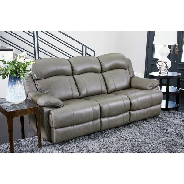 On Sale Nigel Leather Reclining Sofa by Darby Home Co by Darby Home Co