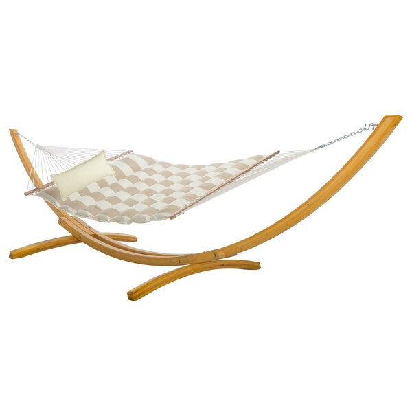 Pace Pillowtop Double Tree Hammock with Stand by Rosecliff Heights