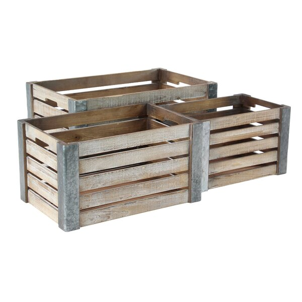 Pallet 3-Piece Planter Box Set by Cole & Grey