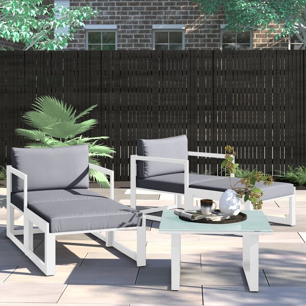 Annemarie 5 Piece Seating Group with Cushions by Foundstone
