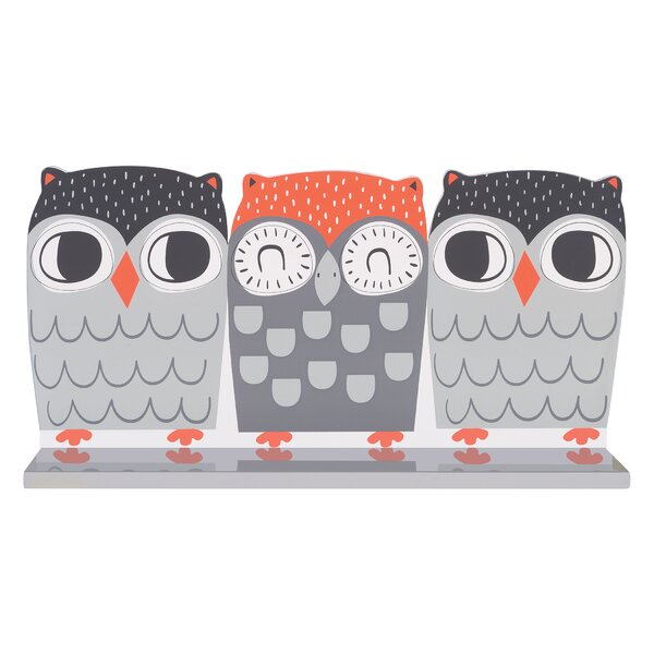 Olive Owl Wall Accent Shelf by Trend Lab