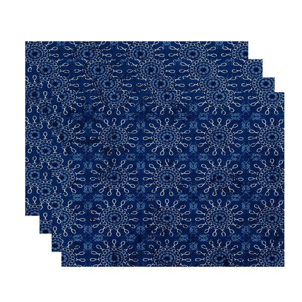 Replogle Geometric Print Placemat (Set of 4) by Bungalow Rose