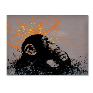 The Thinker by Banksy Graphic Art on Wrapped Canvas by Trademark Fine Art